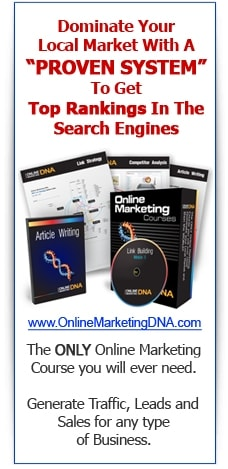 "Dominate Your Local Market With A ""PROVEN SYSTEM"" To Get Top Rankings In The Search Engines"